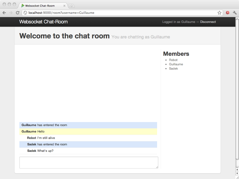 x chat room
